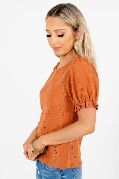 Women's Burnt Orange Spring and Summertime Boutique Clothing