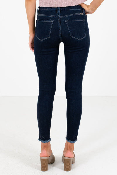 Women's Dark Wash Blue Skinny Style Boutique Jeans