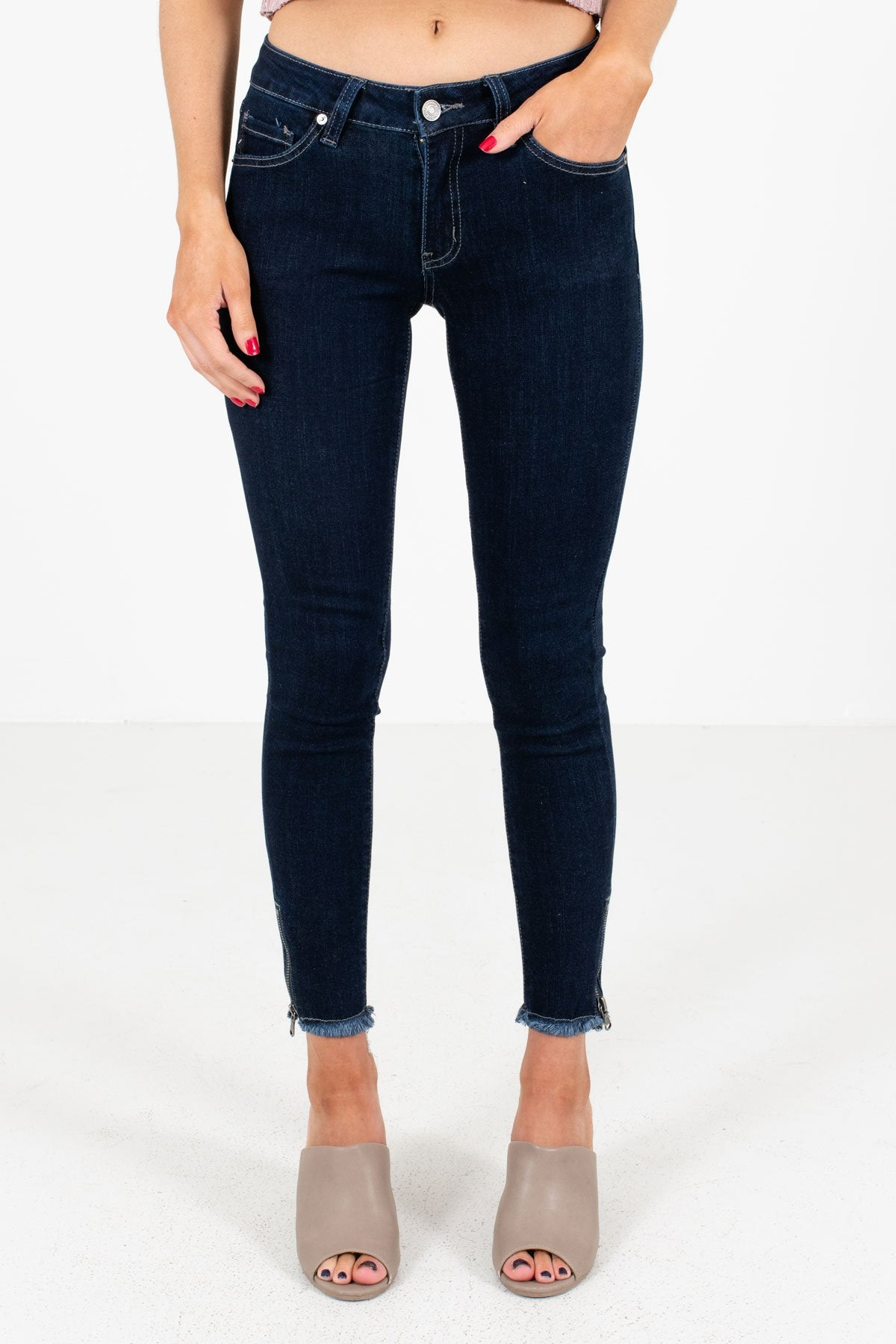 Dark Wash Blue KanCan Brand Boutique Jeans for Women