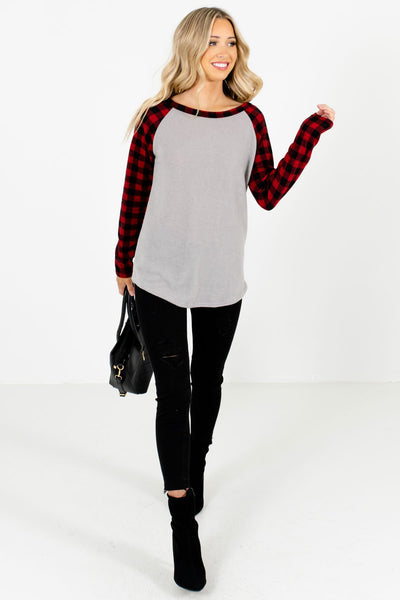 Red Cute and Comfortable Boutique Tops for Women