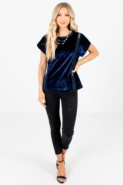 Women's Navy Blue Fall and Winter Boutique Clothing