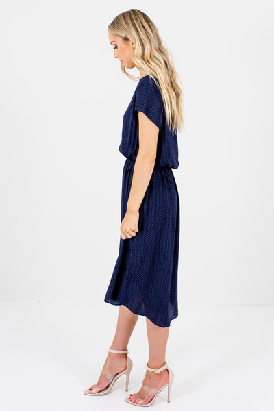 Blue Lightweight Material Boutique Knee-Length Dresses for Women