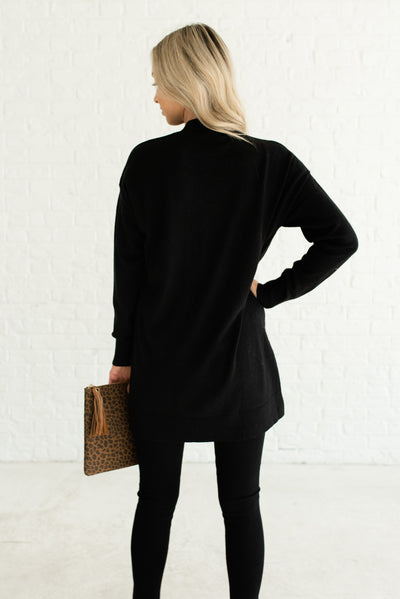 Black Women's Boutique Cardigans with Pockets