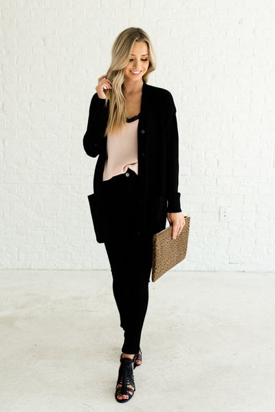 Black High-Quality Cute Boutique Outerwear for Women