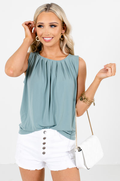 Green Cute and Casual Boutique Tank Tops for Women