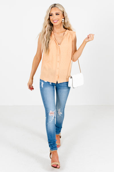Women's Orange Cute and Comfortable Boutique Blouses