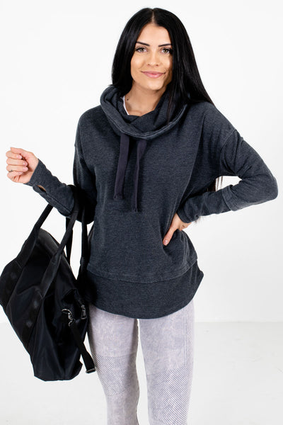 Women's Warm and Cozy Charcoal Gray Active Hoodie