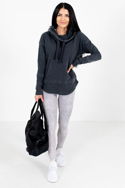Women's Charcoal Gray Workout Boutique Clothing