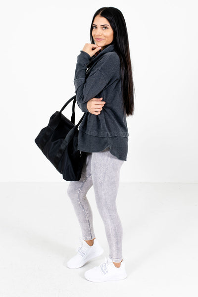 Charcoal Gray Cute and Comfortable Boutique Active Hoodies for Women
