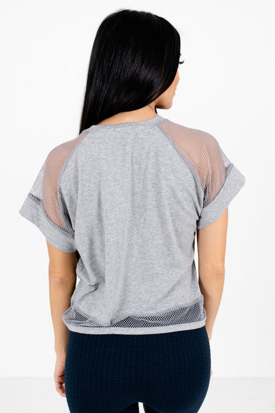 Women's Heather Gray High-Quality Lightweight Material Boutique Active Tee