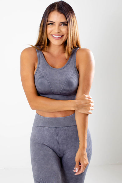 Gray Cute and Comfortable Boutique Sports Bras for Women