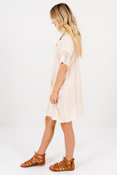 Cream Lightweight Flowy Boutique Tunics for Women