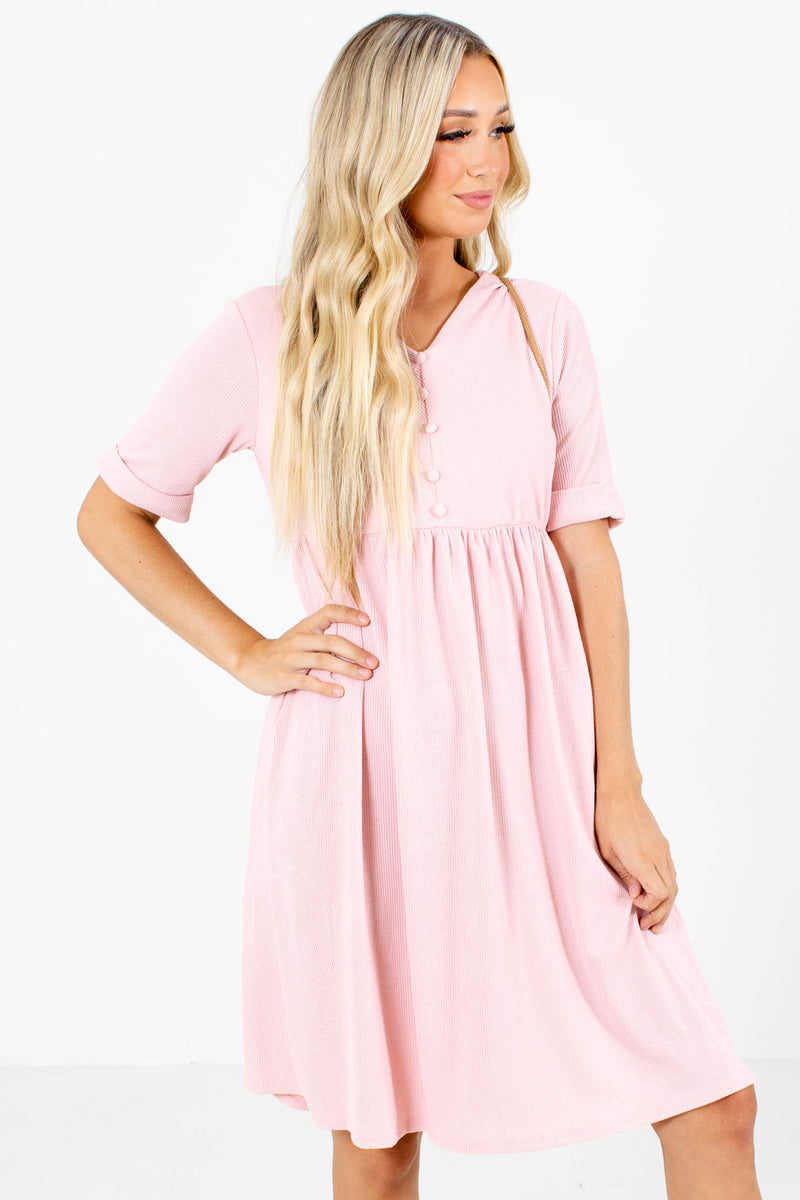Heart Like Mine Pink Knee-Length Dress