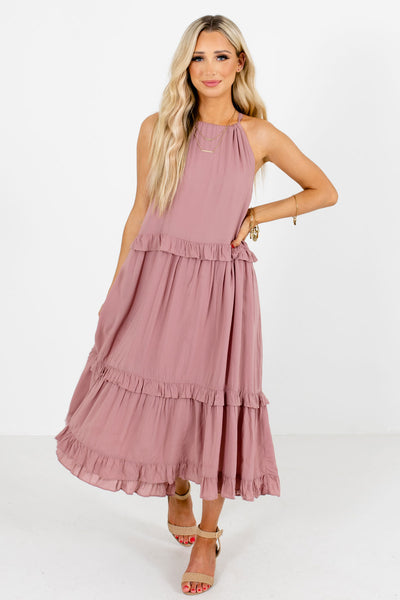 Mauve Cute and Comfortable Boutique Midi Dresses for Women
