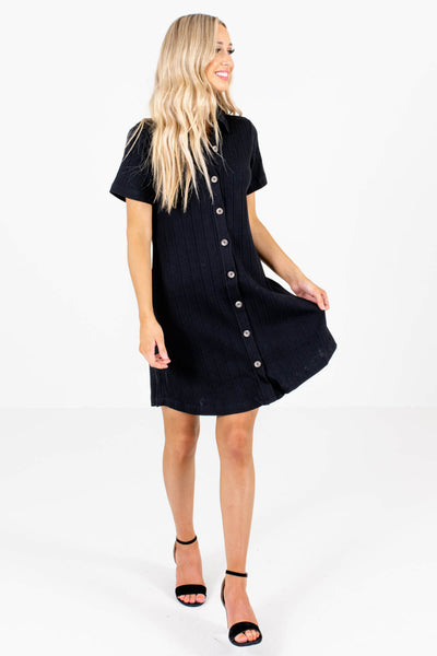 Women's Black Business Casual Boutique Mini Dress