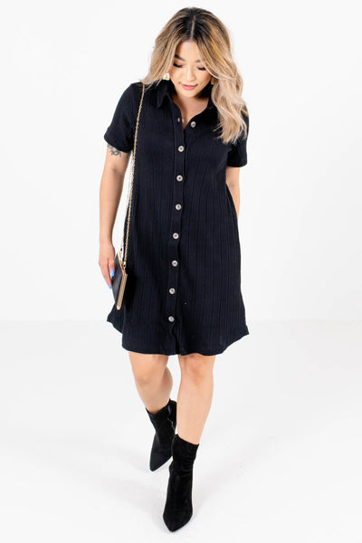 Black Cute and Comfortable Boutique Mini Dresses for WomenBlack Cute and Comfortable Boutique Mini Dresses for Women