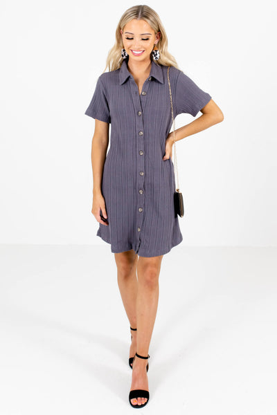 Slate Gray Cute and Comfortable Boutique Mini Dresses for Women