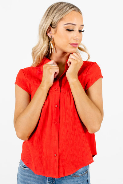 Red Cute and Comfortable Boutique Shirts for Women