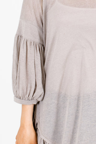 Gray Affordable Online Boutique Clothing for Women