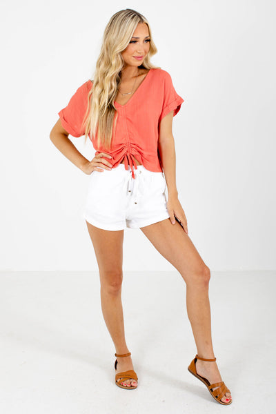 Coral Cute and Comfortable Boutique Tops for Women