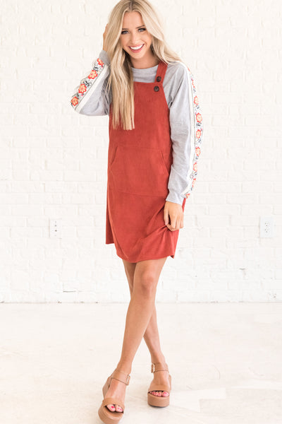 Rust Red Affordable Online Boutique Clothing for Women