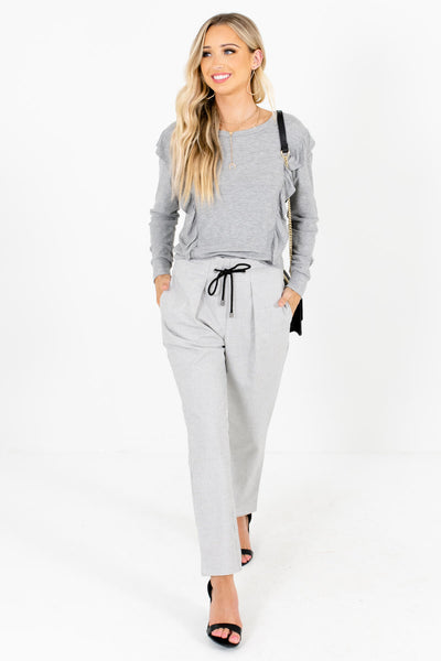 Women's Heather Gray Fall and Winter Boutique Clothing