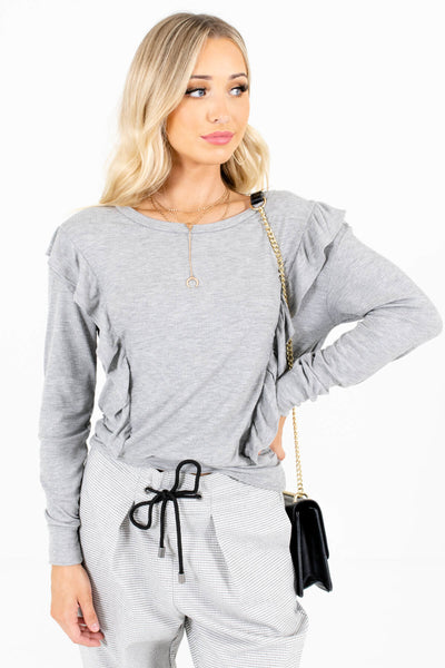 Heather Gray Cozy and Warm Boutique Clothing for Women
