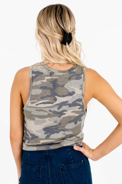 Women's Green Infinity Knot Detailed Boutique Tank Top