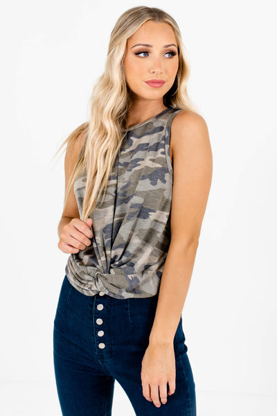 Green Cute and Comfortable Boutique Tank Tops for Women