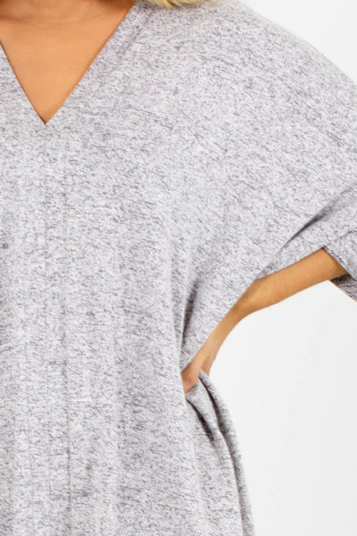 Women's Gray Flowy Silhouette Boutique Top