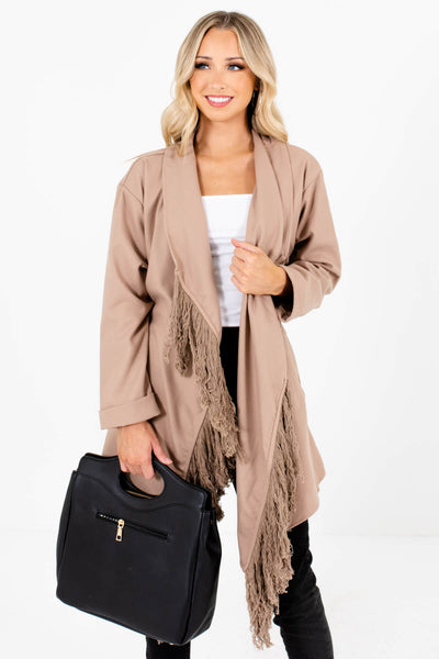 Taupe Brown Boutique Outerwear for Women
