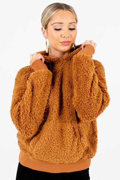 Women's Tawny Orange Cute and Comfortable Boutique Hoodie