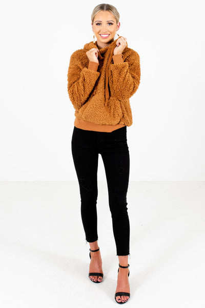 Women's Tawny Orange Fall and Winter Boutique Clothing