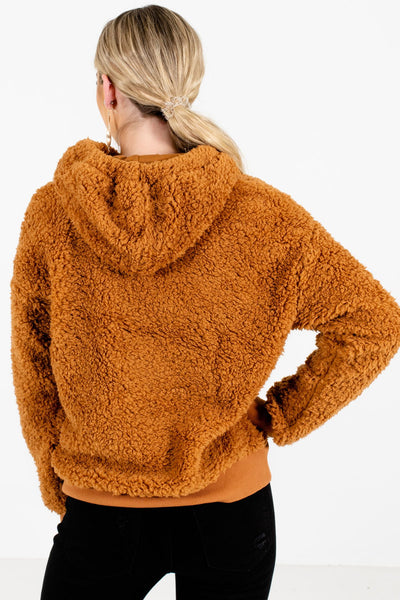 Women's Tawny Orange Drawstring Hood Boutique Hoodie