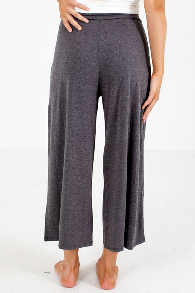 Women's Gray Flowy Silhouette Boutique Pants