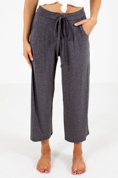 Gray Cute and Comfortable Boutique Pants for Women