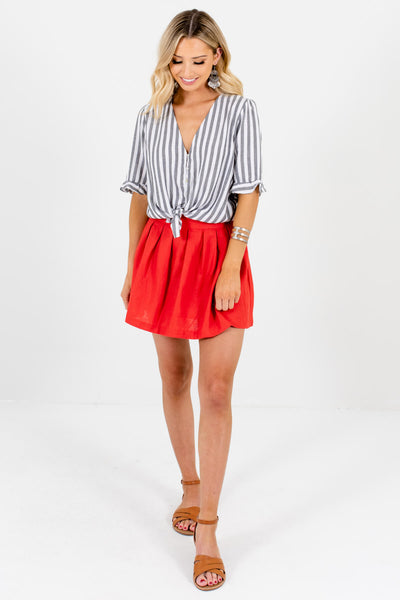 Women's Red Spring and Summertime Boutique Clothing