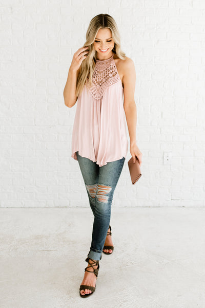 Light Blush Pink Affordable Online Boutique Clothing for Women