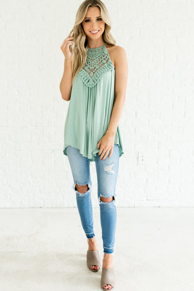 Cute Sage Green Women's Boutique Clothing