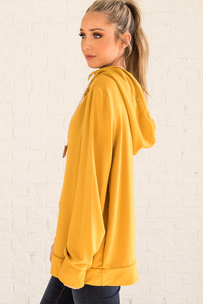 Mustard Yellow High-Quality Boutique Women's Outerwear