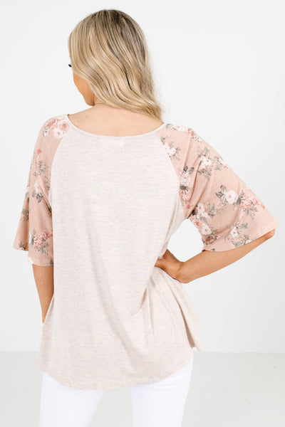 Women's Pink Lightweight Material Boutique Tops