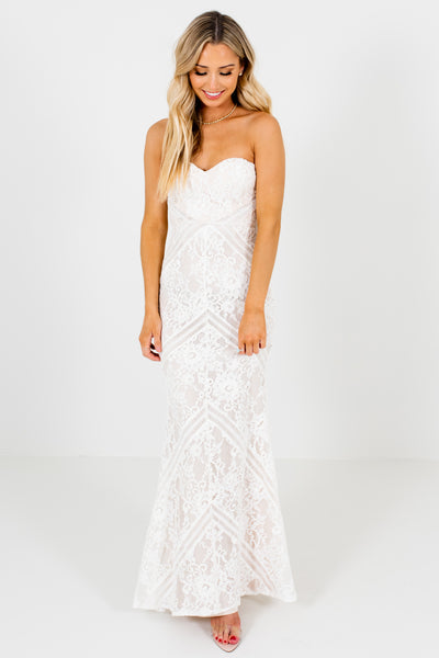 White Lace Affordable Online Boutique Mermaid Wedding Dresses