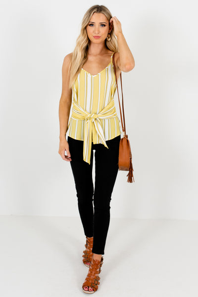 Women's Yellow-Green Spring and Summertime Boutique Clothing