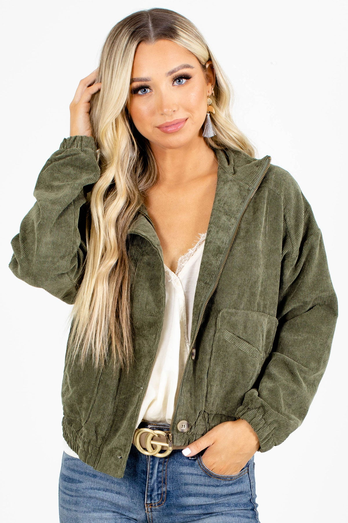 White Cute and Comfortable Boutique Jackets for Women