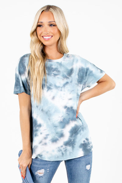 Women's Blue Casual Everyday Boutique Top
