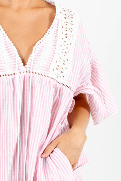 In The Heat of Summer Striped Mini Dress