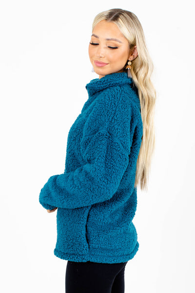 Women's Zip-Up Neckline Boutique Pullover