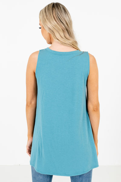 Women's Blue Layering Boutique Tank Top
