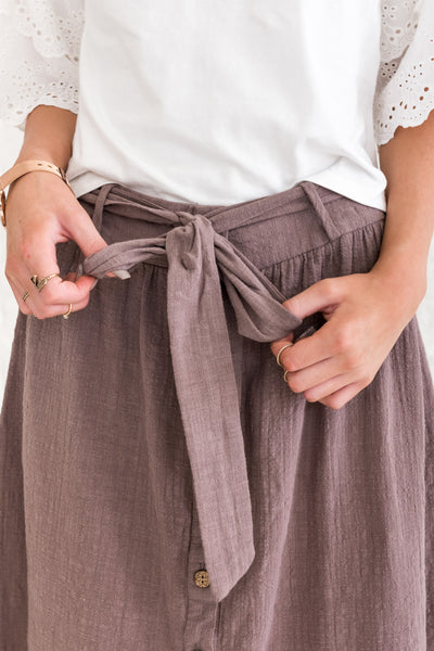 Brown Casual Skirts for women