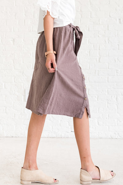 Brown Business Casual Women's Skirts